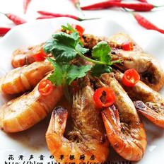 香辣油爆虾