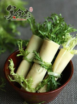 苦菊干豆腐卷的做法