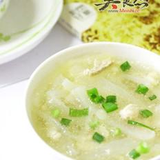 白萝卜肉丝汤