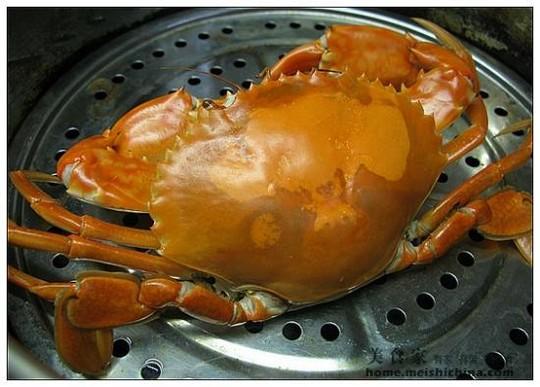 去掉螃蟹不能吃的部分
