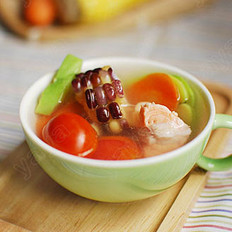 三文鱼田园蔬菜汤的做法