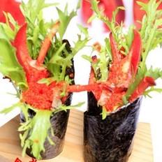 加拿大龙虾龙鳌鱼籽手卷的做法