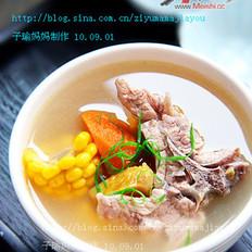 板栗蔬菜龙骨汤的做法