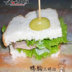 鸭胸三明治的做法