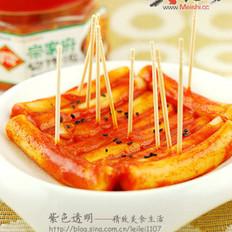 韩式手指炒年糕的做法