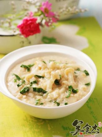 蘑菇菜丝燕麦粥的做法