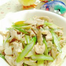 芦笋炒鸡丝