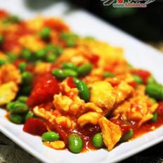 番茄毛豆炒鸡蛋