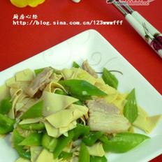 尖椒豆片的做法