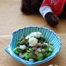 雪菜虾仁炒蚕豆