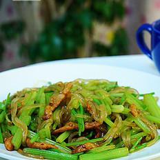 芹菜炖粉条