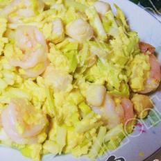 韭黄虾炒蛋