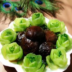蚝油香菇菜心的做法