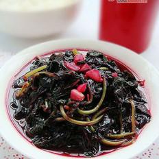 蒜炒紫苋菜的做法