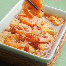 麻婆豆腐虾的做法