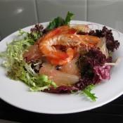 大虾柚子生菜沙拉的做法