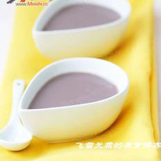 花生紫米糊