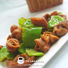 青椒肥肠的做法