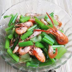 河虾腌芹菜的做法