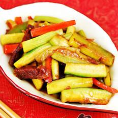 臘腸絲瓜胡蘿卜的做法