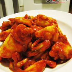 韩式辣酱炒田鸡