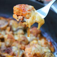 熏奶酪焗豆腐丸子