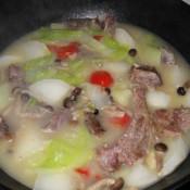 腊排骨萝卜白菜煲