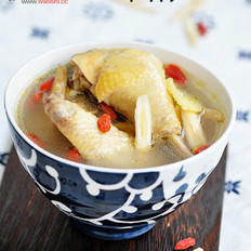 黄芪枸杞鸡汤的做法
