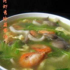 河虾秀珍菇蛋汤