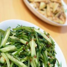 黄瓜拌茼蒿
