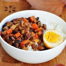 香菇豆干卤肉饭的做法