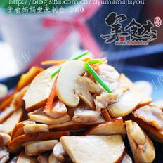 豆腐干蘑菇炒肉片