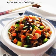 脆藕炒鸡米的做法