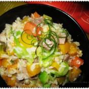 杂菜猪肉汤饭