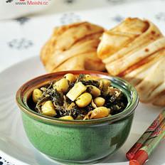 雪菜笋丁黄豆的做法