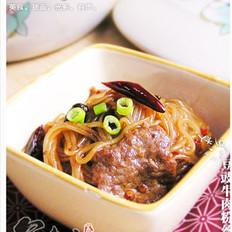 豆豉牛肉粉丝煲的做法