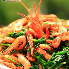 小河虾炒韭菜的做法