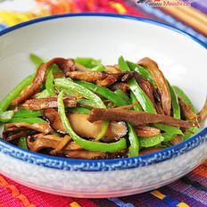 笋干香菇炒青椒