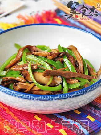 笋干香菇炒青椒的做法