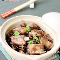 茶树菇排骨煲的做法