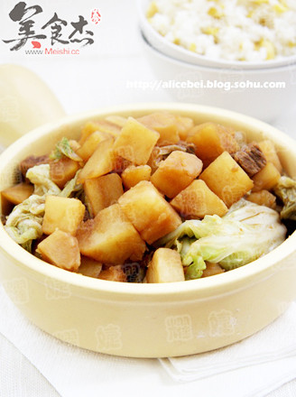 土豆熬白菜的做法