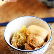酸菜汆白肉的做法