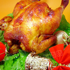 圣诞节烤鸡的做法