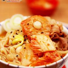 韩式牛肉火锅面的做法