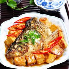 红烧鱼头豆腐
