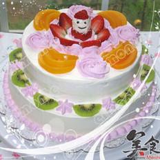 雙層水果蛋糕的做法