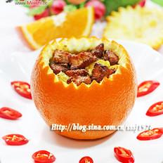 喜气洋洋—香橙孜然羊肉盅的做法