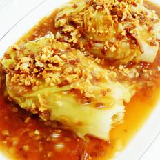 金蒜白菜的做法