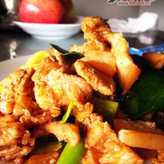 韩式辣酱回锅肘片的做法
