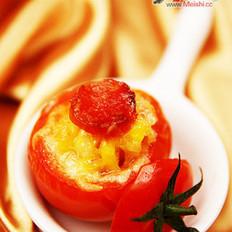 芝士焗番茄盅的做法